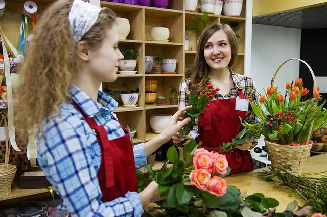 prodavačky květin